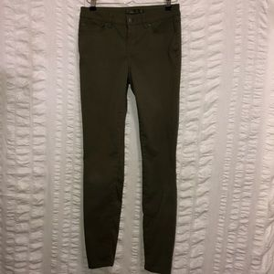 PrAna Olive Green Cropped Skinny Pants